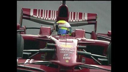 Em 2008, Felipe Massa vence Grande Prêmio do Brasil de Fórmula 1