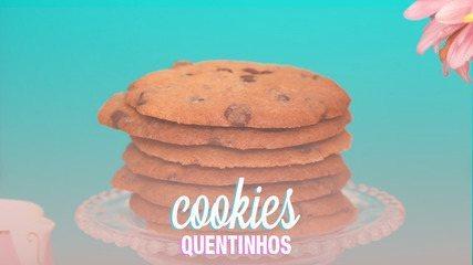 O segredo para a massa do cookie ficar fofinha é manter todos os ingrediente em temperatura ambiente
