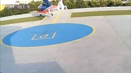Imagens mostram a decolagem do helicóptero que levava Thomaz Alckmin