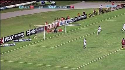 Zé Carlos e Clebinho marcam e CRB bate o Paraná por 2 a 0
