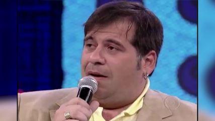 Leandro Hassum se emociona ao falar da filha e os dois choram juntos