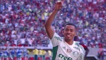 Gol do Palmeiras! César Martins erra, e Gabriel Jesus abre o placar contra o Flamengo
