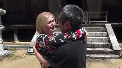 Muita emoção no primeiro encontro do casal depois de 13 anos