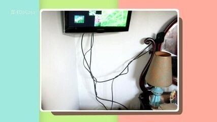 Fábio Basso dá dica para esconder fios em sua casa