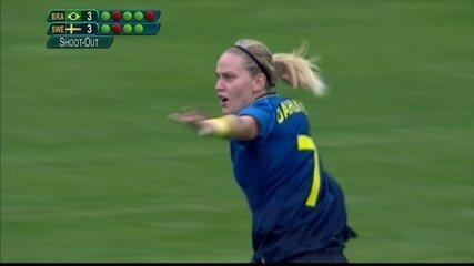 Os Pênaltis de Brasil (3) 0 x 0 (4) Suécia pela semifinal do futebol feminino