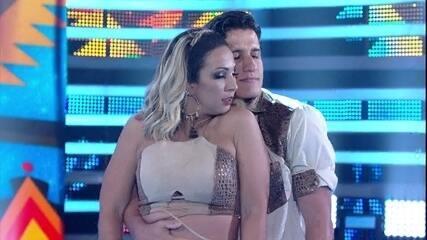 Valesca e Bruno Franchi são a quarta dupla a se apresentar no ritmo de forró