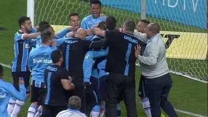 Os pênaltis de Grêmio 0 (4) x (3) 1 Atlético-PR pela Copa do Brasil