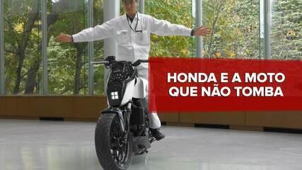 Honda cria conceito de moto que não tomba