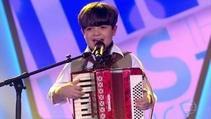 Thomas Machado, de 9 anos, cantou 'Beijinho Doce'