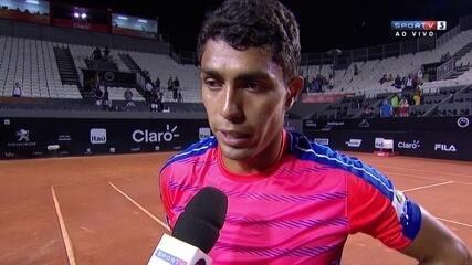 Thiago Monteiro projeta duelo de alto nível contra Casper Ruud nas quartas de final