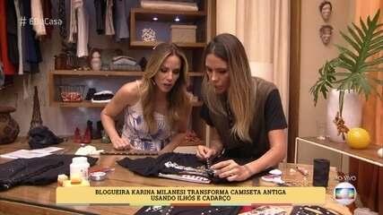 Karina Milanesi ensina a customizar camisetas