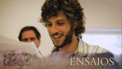 Veja como foram os ensaios do elenco com o diretor artístico Vinícius Coimbra