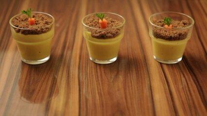Mousse caramelizada de cenoura