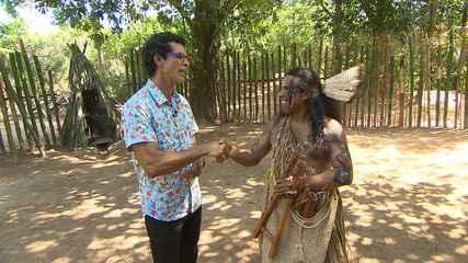 Jackson Costa conversa com Wakay, líder da Thá-Fene, sobre a cultura indígena