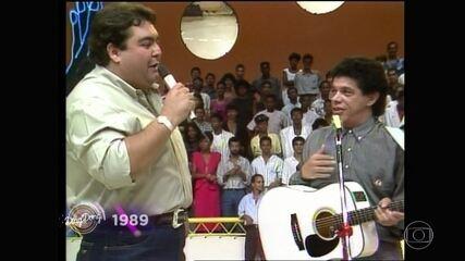 'Domingão' homenageia Wando e relembra apresentações do cantor no programa