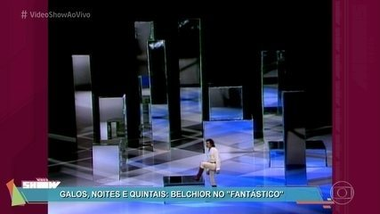 Belchior cantou 'Galos, Noite e Quintais' no Fantástico