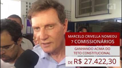 Crivella nomeou 7 comissionados com 'supersalários', mostra levantamento do G1