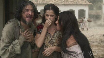 Elvira, Germana e Licurgo comemoram a permanência de Dom Pedro no Brasil