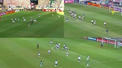 Compare: Palmeiras marcou três vezes com a mesma jogada ensaiada
