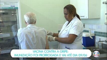 Ministério da Saúde prorroga vacinação contra a gripe até 9 de junho