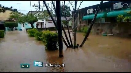 Rio Formoso e Belém de Maria são as cidades mais prejudicadas pelas chuvas em PE, segundo a Defesa Civil