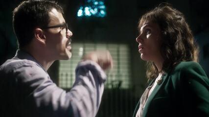 Davi e Kika deixam Celeste insegura para audiência de Abel