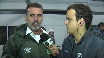 Vagner Mancini diz que atiraram garrafa em direção a atletas da Chapecoense