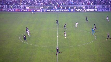 Jogada completa do segundo gol do Corinthians contra o Vasco