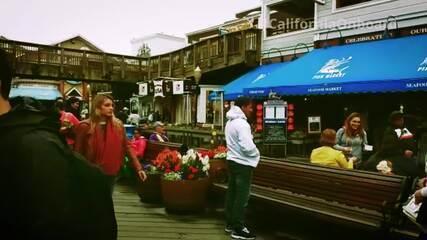 #CaliforniaOnboard: Maya Gabeira visita o Pier 39 em São Francisco