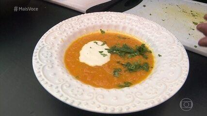 Jimmy faz receita de sopa de cenoura