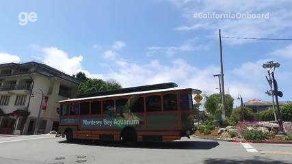 #CaliforniaOnboard: Maya Gabeira e equipe chegam a Monterey e visitam aquário na cidade
