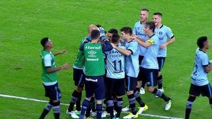 Os gols de Fluminense 0 x 2 Grêmio pela 7ª rodada do Campeonato Brasileiro