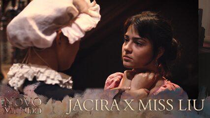 Making of mostra detalhes de cena de ação entre Jacira e Miss Liu em 'Novo Mundo'