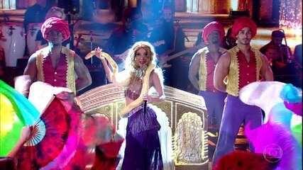 Luiza Possi se apresenta como Shakira na final do 'Show dos Famosos'