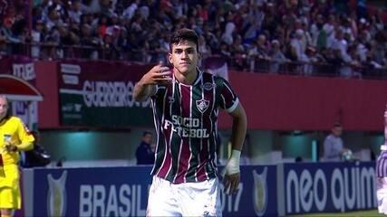 Gol do Fluminense! Wellington Silva cruza na área e Pedro completa de peito, aos 24 do 2º