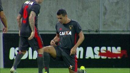 Gol do Sport! Diego Souza aproveita bom cruzamento do Mena e amplia aos 46' do 2º Tempo