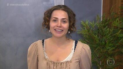 Letícia Colin se prepara para cantar em alemão em 'Novo Mundo'