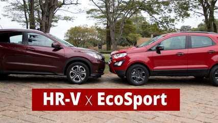 G1 compara o Ecosport renovado com o líder HR-V