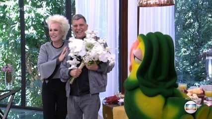 Jorge Fernando ganhou flores de Ana Maria Braga