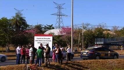 Retorno na BR-153 é fechado para evitar acidentes, em Aparecida de Goiânia
