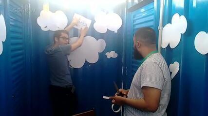 Participantes do 'Globo Lab' usam a criatividade e participam de projetos no 'Lazinho com Você'