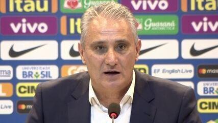 """Tite não diz quantas vagas estão abertas para a Copa: """"Não posso fechar as portas"""""""