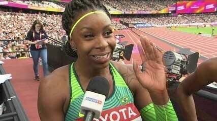 """Quarteto do Brasil celebra prova de rev. fem. 4x100m """"Primeiro passo era chegar na final"""""""