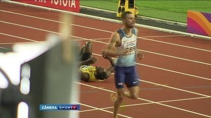 Dramático: em sua última corrida, Usain Bolt  cai com dores. Veja imagens exclusivas do SporTV