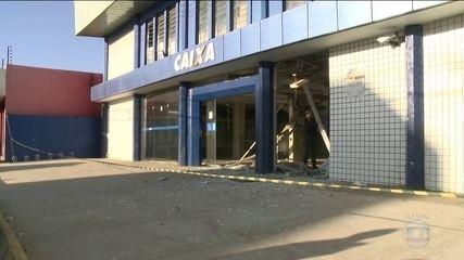 Mendigo morre durante explosão de banco no Maranhão