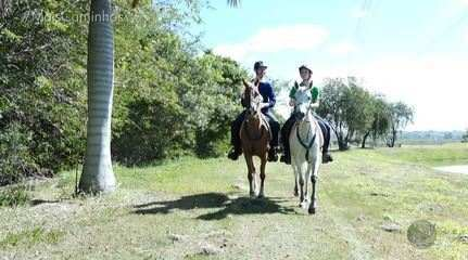 O repórter Daniel Perondi conhece o esporte Enduro Equestre