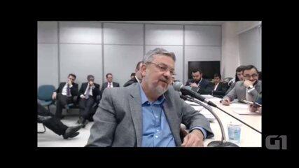 Ex-ministro Antonio Palocci presta depoimento ao juiz Sérgio Moro