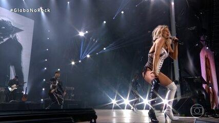 Fergie canta 'Fergalicious' no Rock in Rio 2017