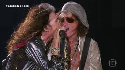 Aerosmith canta 'Love in an Elevator' no Palco Mundo do Rock in Rio