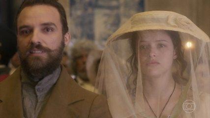 Domitila assiste à coroação de Dom Pedro